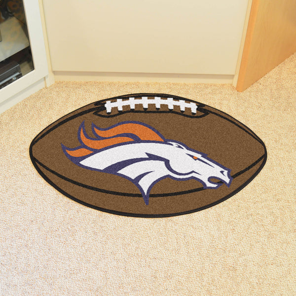 Denver Broncos Football Mat Floor Rug - TM Niches - 1