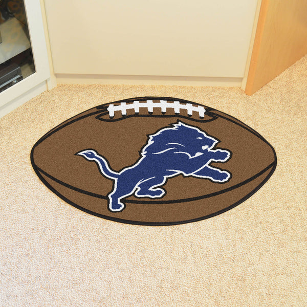 Detroit Lions Football Mat Floor Rug - TM Niches - 1