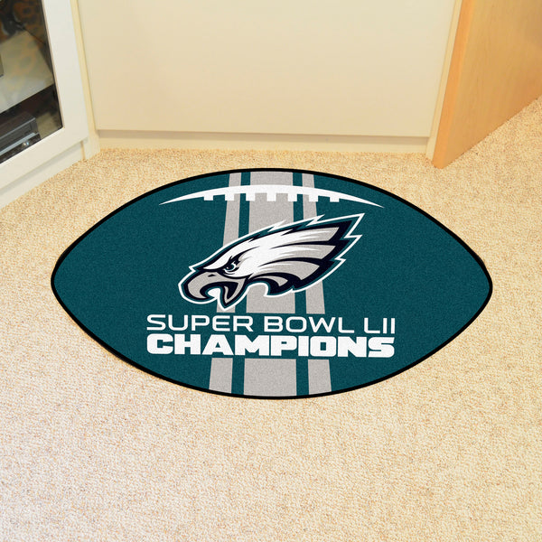 Philadelphia Eagles Super Bowl LII Football Mat