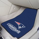 New England Patriots Super Bowl Carpet Car Floor Mats