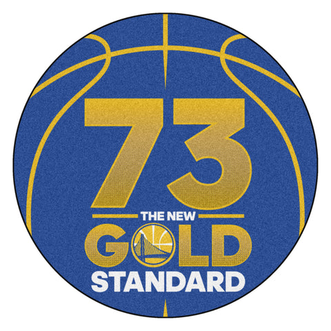 Golden State Warriors 73 Wins Record Gold Standard Basketball Mat - TM Niches - 2