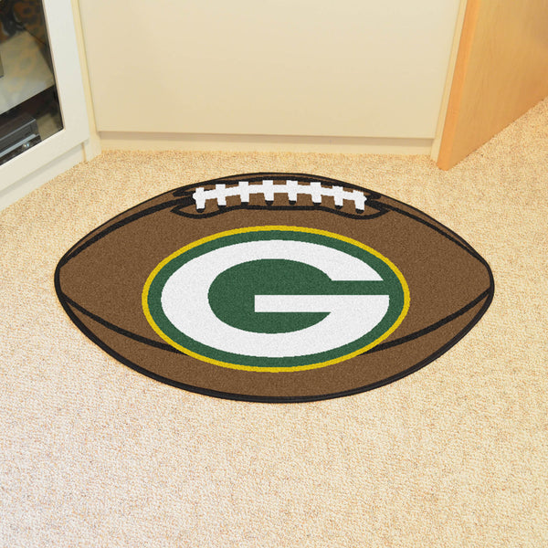 Green Bay Packers Football Mat Floor Rug - TM Niches - 1