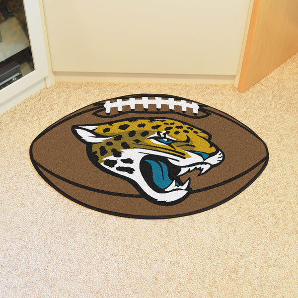 Jacksonville Jaguars Football Mat Floor Rug - TM Niches - 1