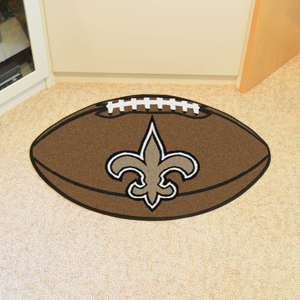 New Orleans Saints Football Mat Floor Rug - TM Niches - 1