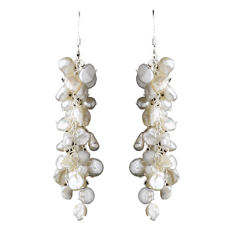 Keshi pearls always work for a beach wedding. This pair of wedding earrings are a sure winner at $48.00.