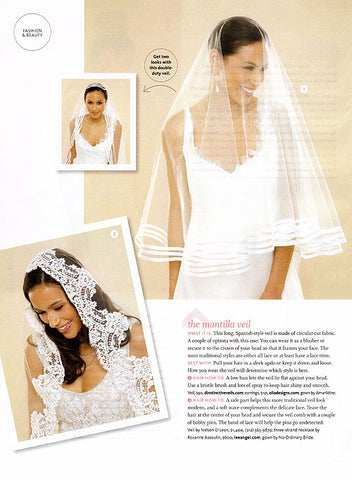 The Knot Magazine Spring Summer 2009 Contempo Veil