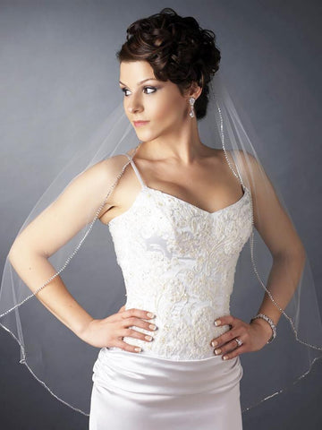 Rhinestone Edge Veil - Distinctive Veils & Accessories