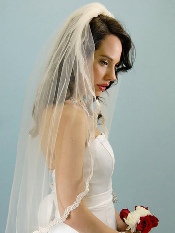 Thin Lace Veil, Alencon - Ansonia Bridal Veils, 253