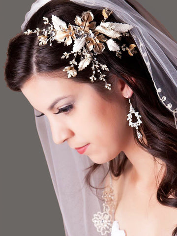 Autumn Leaves Wedding Headpiece