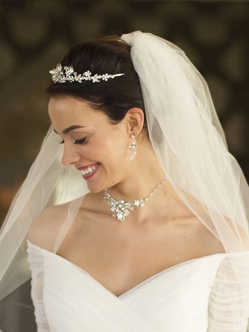 Crystal Abstract Wedding Tiara - Distinctive Veils & Accessories