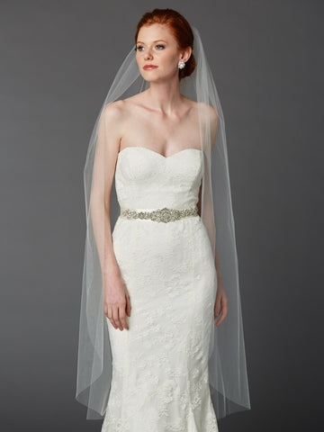 Cut Edge Waltz Length Veil - Distinctive Veils & Accessories
