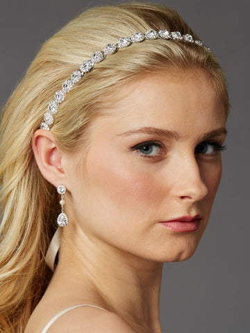 Mariell Crystal Wedding Headband - Distinctive Veils & Accessories