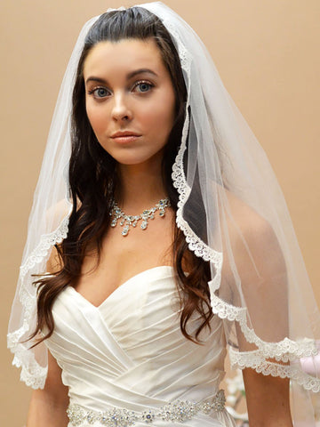 Scalloped Lace Edge Veil - Ansonia Bridal Veils, 632