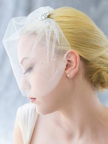 Cage Veil with Vintage Clip by Erica Koesler - Distinctive Veils & Accessories