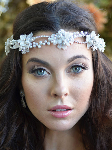 Flowered Wedding Headpiece - Distinctive Veils & Accessories