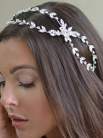 Double Winding Wedding Headband