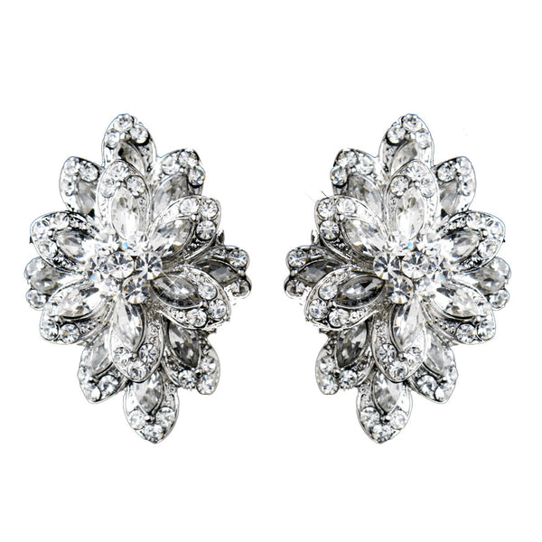 Rhinestone Marquis Earrings - Distinctive Veils & Accessories