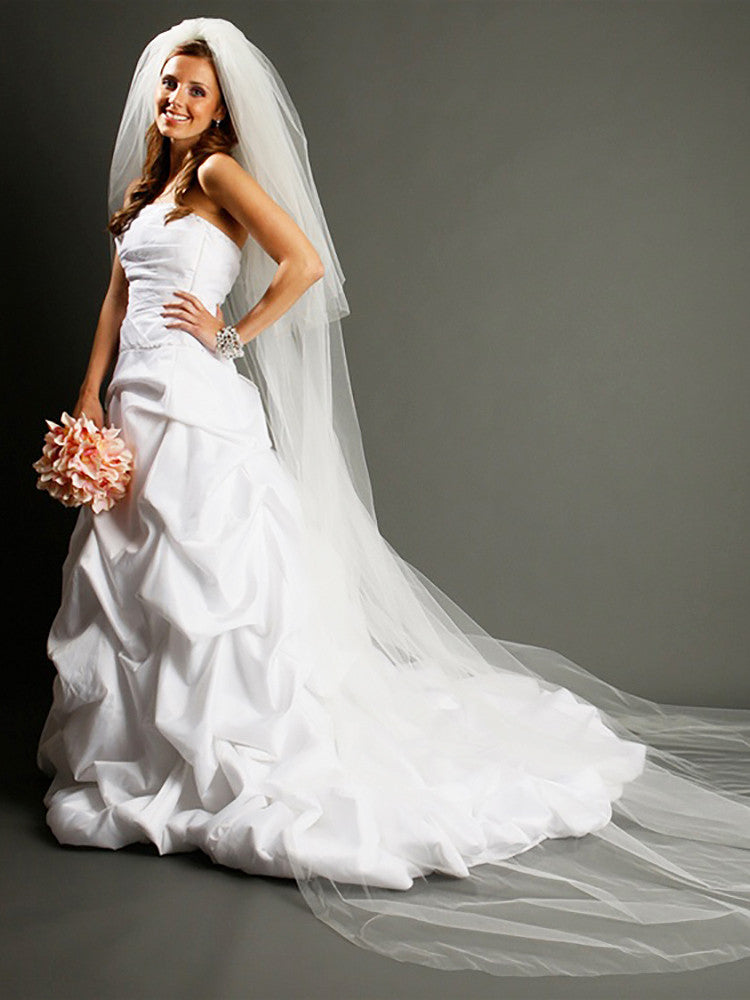 2-Tier Cathedral Veil with Cut Edge - Distinctive Veils & Accessories
