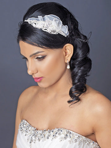 Luxe Pearl Wedding Headpiece - Distinctive Veils & Accessories