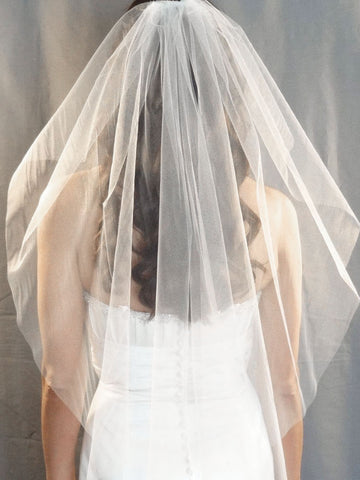Angel Cut Wedding Veil - Distinctive Veils & Accessories