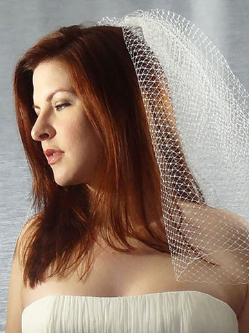 Long Birdcage Veil - Distinctive Veils & Accessories