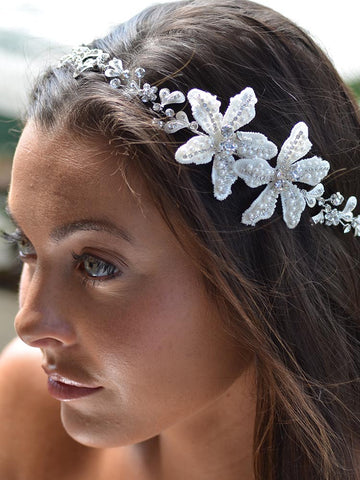 Flower with Pearl Wedding Headpiece