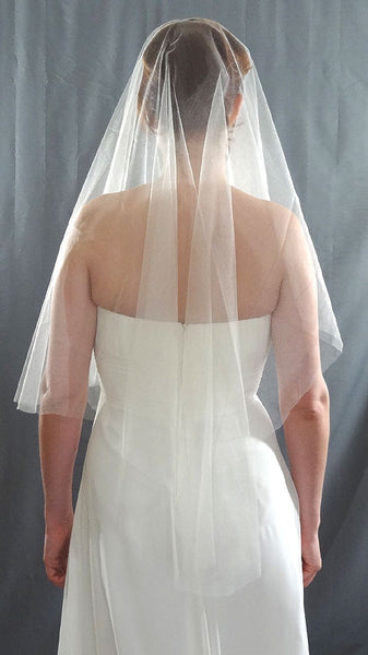 French Silk Tulle Drop Veil