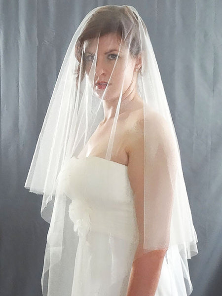French Silk Tulle Drop Veil - Distinctive Veils & Accessories
