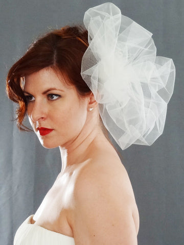 Bridal Pouf - A Wedding Veil Alternative - Distinctive Veils & Accessories