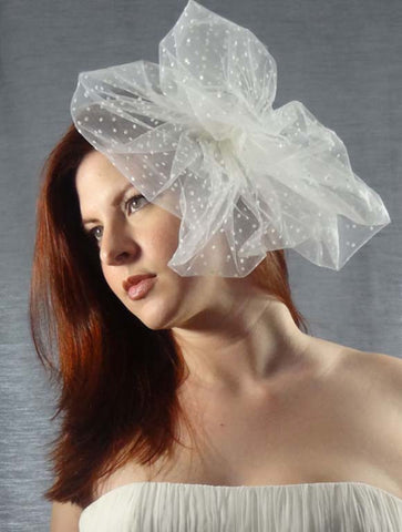 Swiss Dot Bridal Pouf - Distinctive Veils & Accessories
