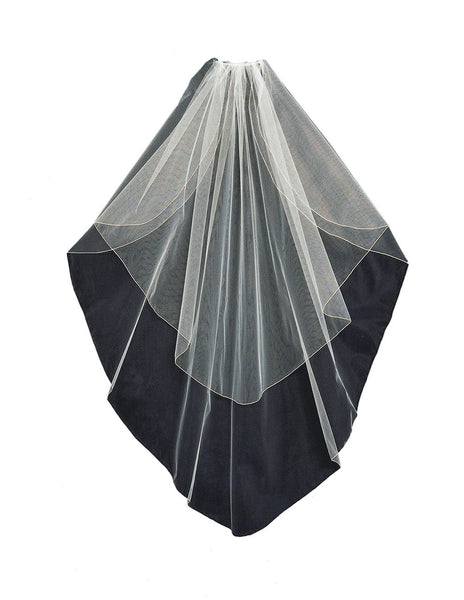 Angled Flutter Cut Veil - Distinctive Veils & Accessories