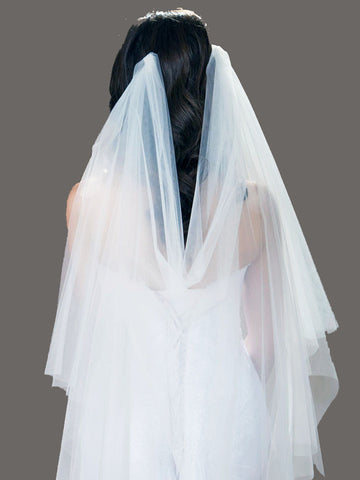 Watteau Veil, Couture Wedding Veil
