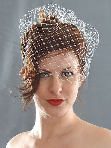 Wide Net Birdcage Veil - Distinctive Veils & Accessories