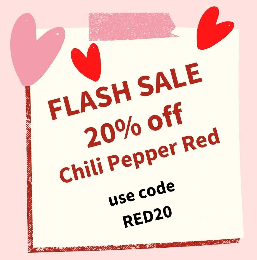 ⚡ FLASH SALE on Chili Pepper Red ⚡