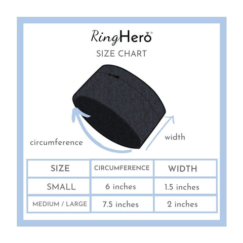 RingHero size chart wristband ring protector for gym