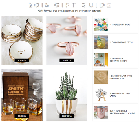 Wedding Chicks Holiday Gift Guide