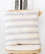 Blue Stripe Grainsack Pillow-Farmhouse Living - Farmhouse Decor