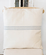 Blue Stripe Trio Grainsack Pillow-Farmhouse Living - Farmhouse Decor