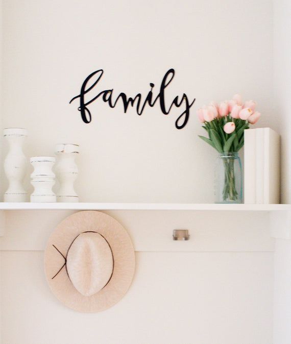 Family Metal Sign-Farmhouse Living - Farmhouse Decor
