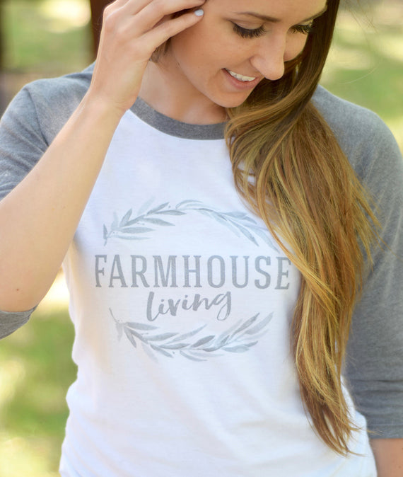 Farmhouse Living Baseball Shirt-Farmhouse Living - Farmhouse Decor