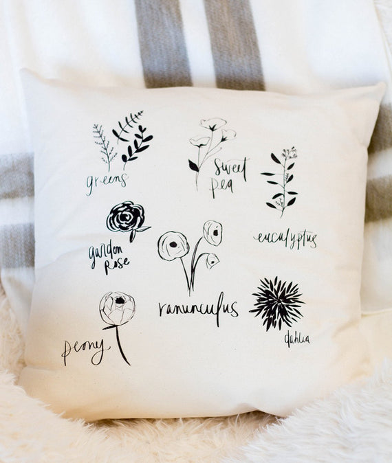 Flower Type Pillow-Farmhouse Living - Farmhouse Decor