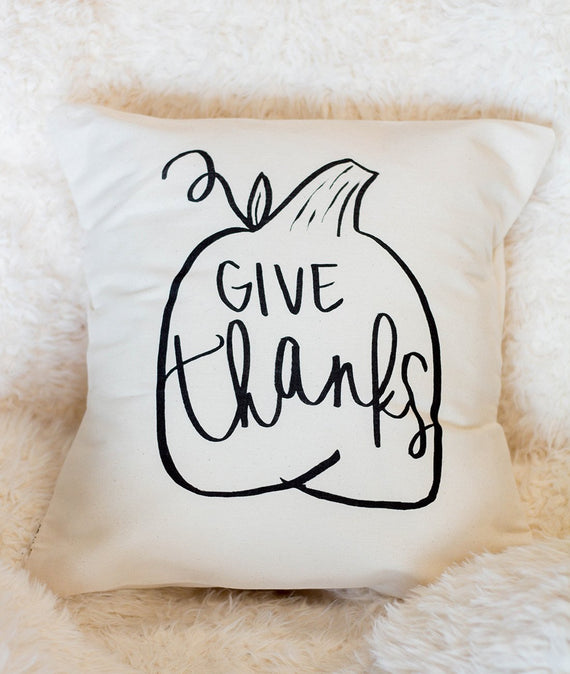 Give Thanks Pillow-Farmhouse Living - Farmhouse Decor