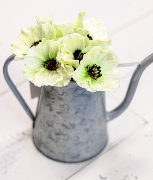 Green Real Touch Mini Poppy Stems-Farmhouse Living - Farmhouse Decor