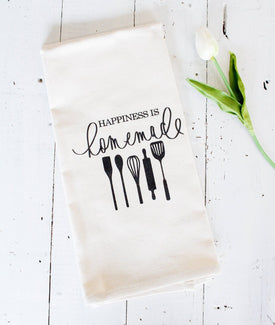 Happiness is Homemade Tea Towel-Farmhouse Living - Farmhouse Decor