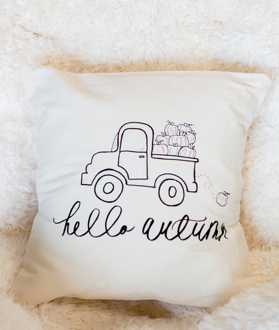 Hello Autumn Pillow-Farmhouse Living - Farmhouse Decor