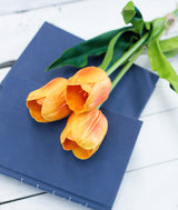 Large Orange Real Touch Tulips-Farmhouse Living - Farmhouse Decor