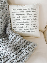 Love Grows Best Pillow-Farmhouse Living - Farmhouse Decor