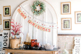 Merry Christmas Banner-Farmhouse Living - Farmhouse Decor