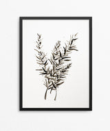Rosemary Watercolor Print - Herb Silhouette Series-Farmhouse Living - Farmhouse Decor