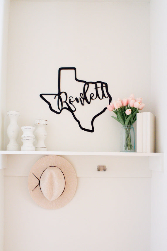 ROWLETT Cut Out Sign-Farmhouse Living - Farmhouse Decor